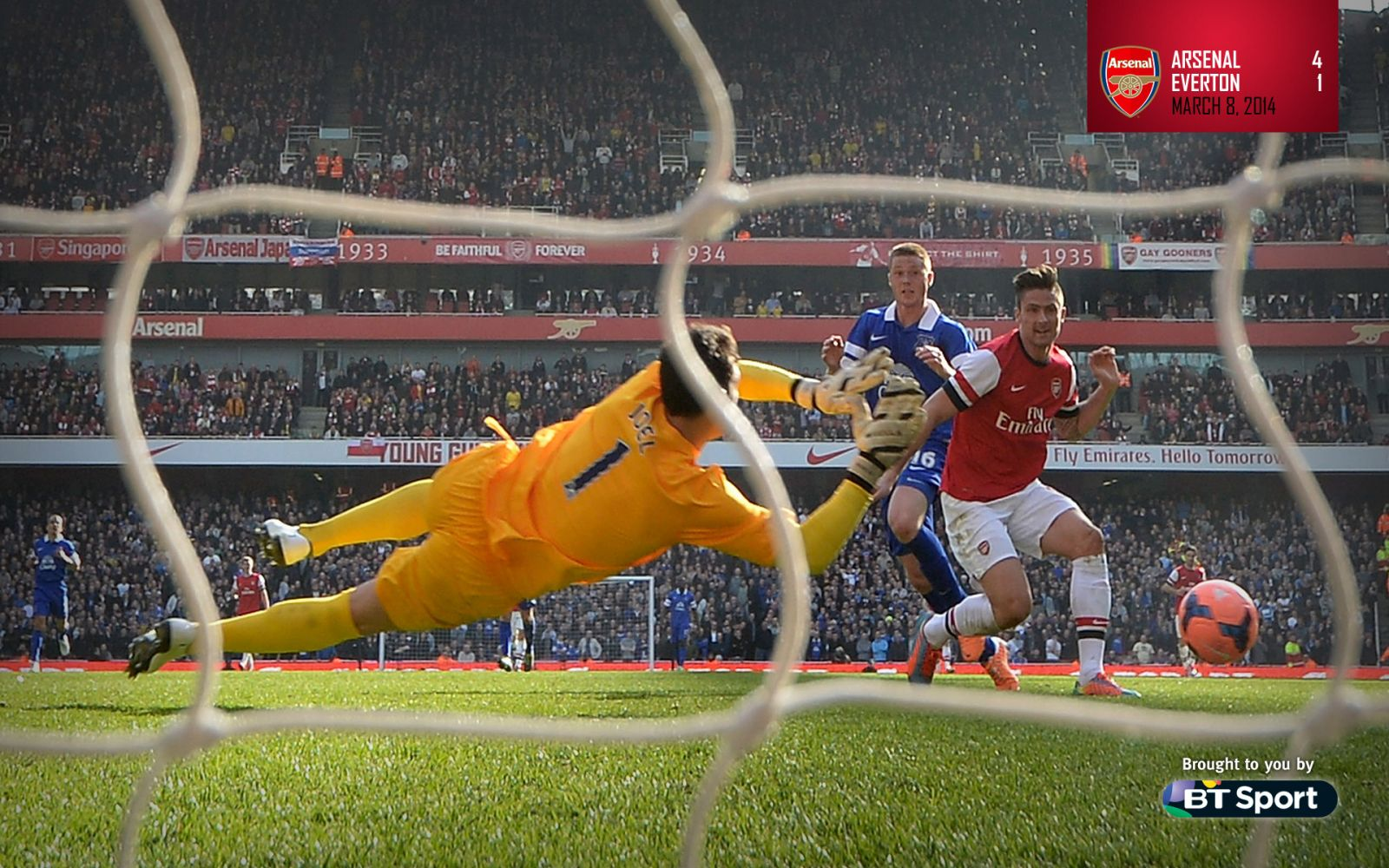 March 8, 2014 - Arsenal 4-1 Everton