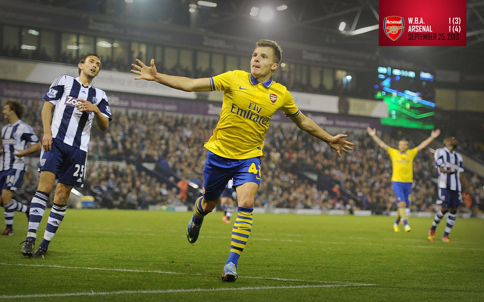 September 25, 2013 - West Bromwich Albion 3-4 Arsenal